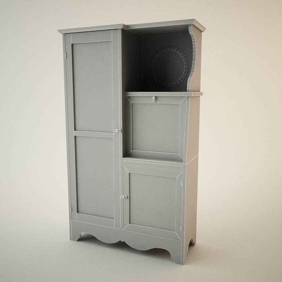 Zabytkowa Hutch royalty-free 3d model - Preview no. 2