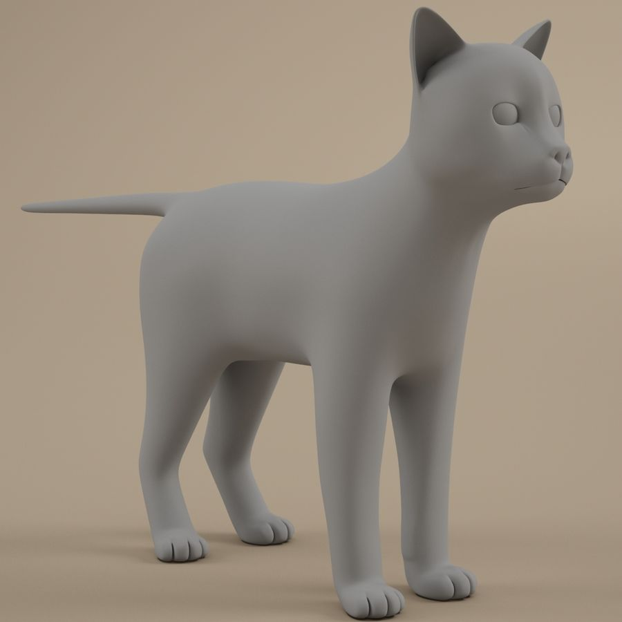 Gatto royalty-free 3d model - Preview no. 1