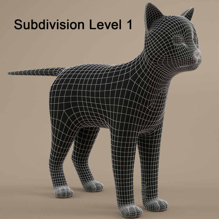 Gatto royalty-free 3d model - Preview no. 9