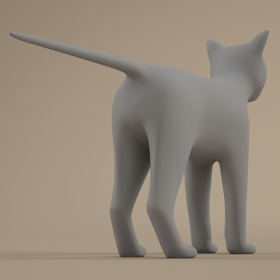 Gatto royalty-free 3d model - Preview no. 7