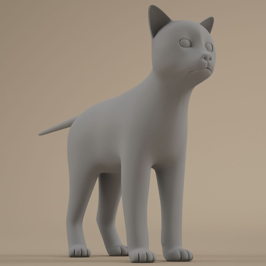 Gatto royalty-free 3d model - Preview no. 6