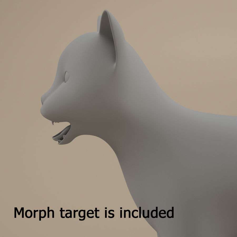 Gatto royalty-free 3d model - Preview no. 2