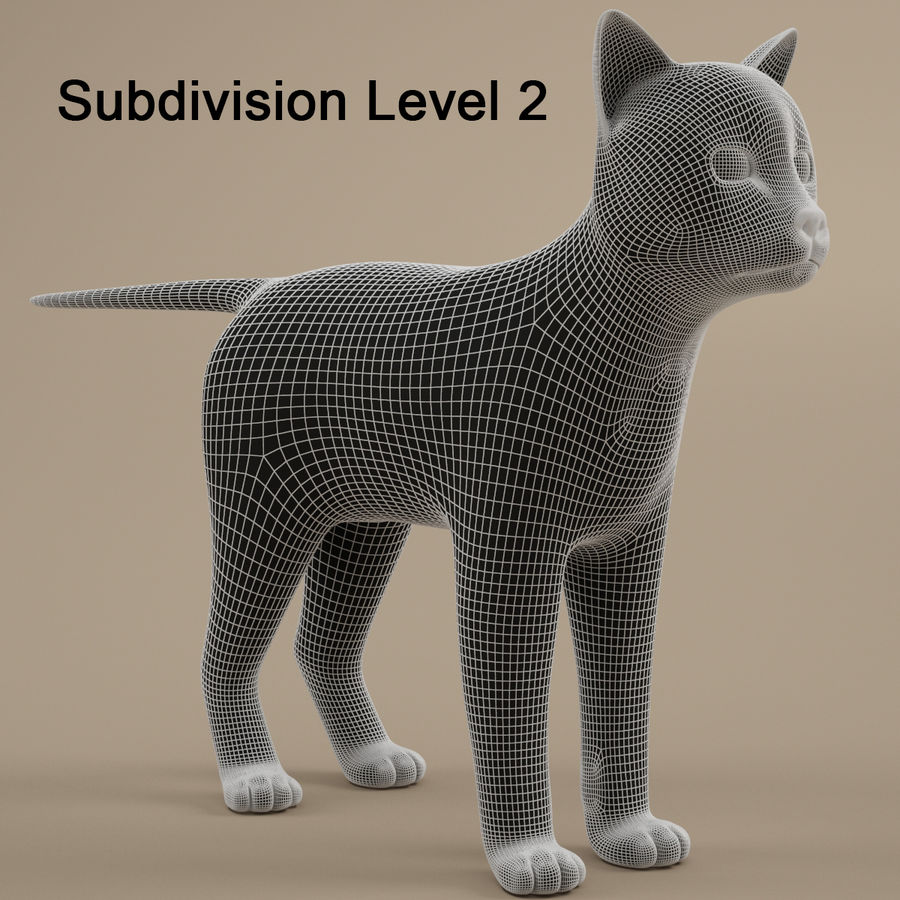Gatto royalty-free 3d model - Preview no. 10