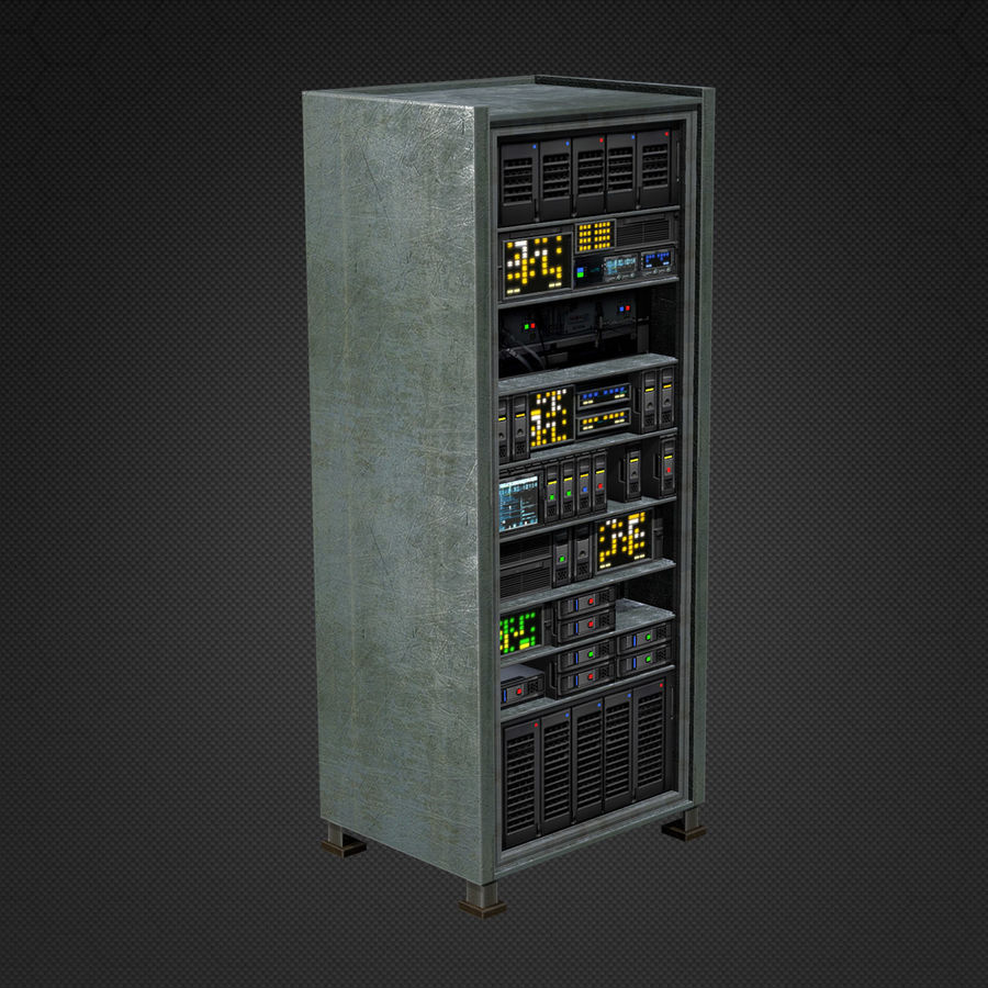 Switchboards royalty-free 3d model - Preview no. 4