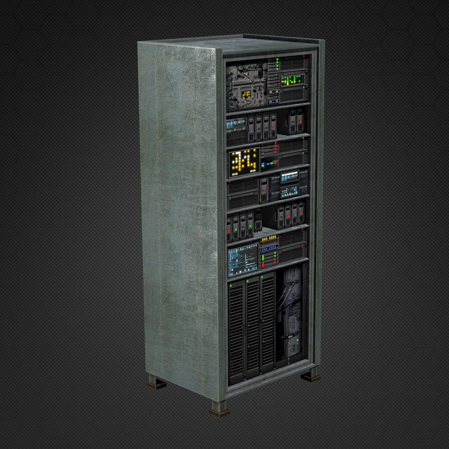 Switchboards royalty-free 3d model - Preview no. 2