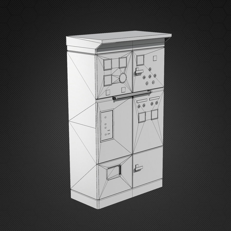 Switchboards royalty-free 3d model - Preview no. 7