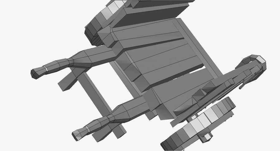 Wooden Cart Zbrush Sculpt royalty-free 3d model - Preview no. 46