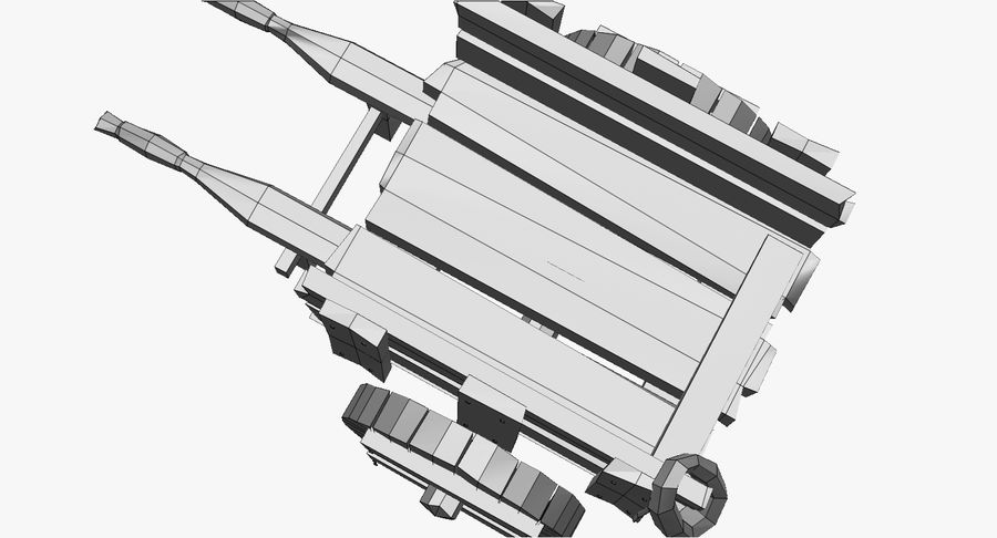 Wooden Cart Zbrush Sculpt royalty-free 3d model - Preview no. 43