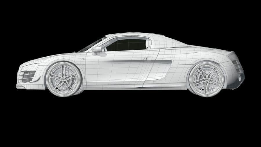 R8 Spyder V10 royalty-free 3d model - Preview no. 12