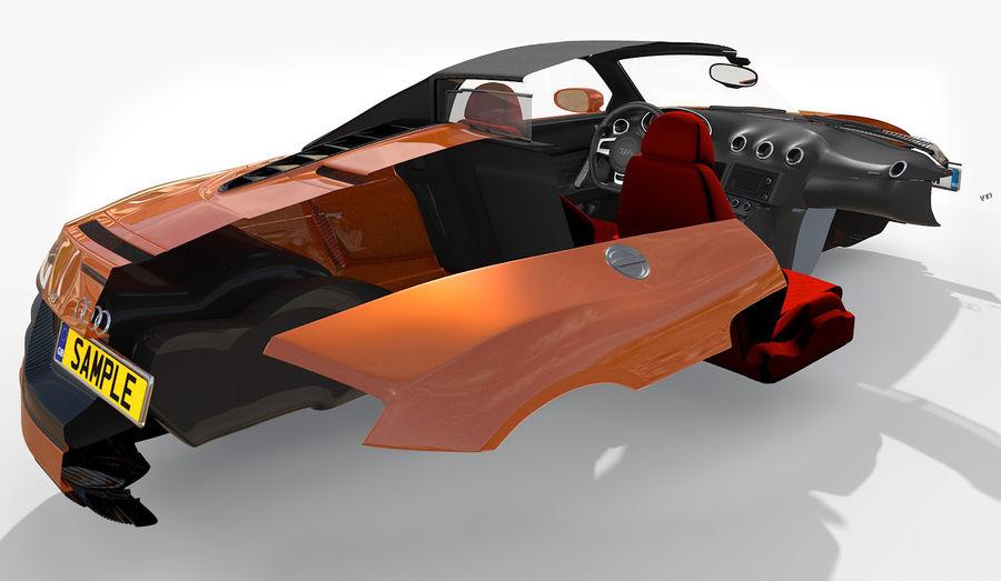 R8 Spyder V10 royalty-free 3d model - Preview no. 17