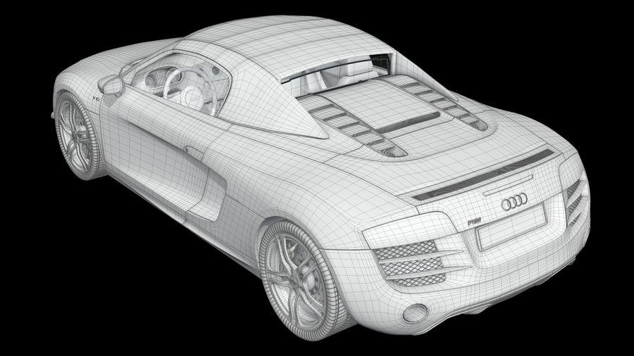 R8 Spyder V10 royalty-free 3d model - Preview no. 9
