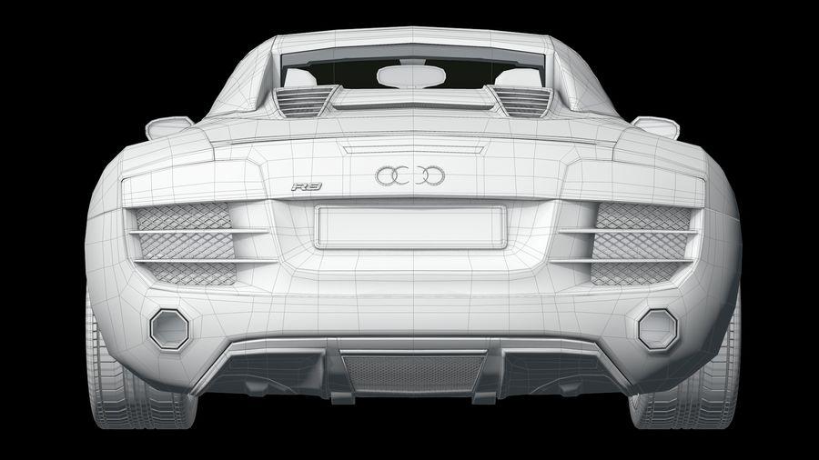 R8 Spyder V10 royalty-free 3d model - Preview no. 6