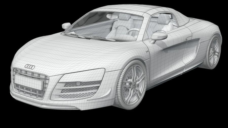 R8 Spyder V10 royalty-free 3d model - Preview no. 2