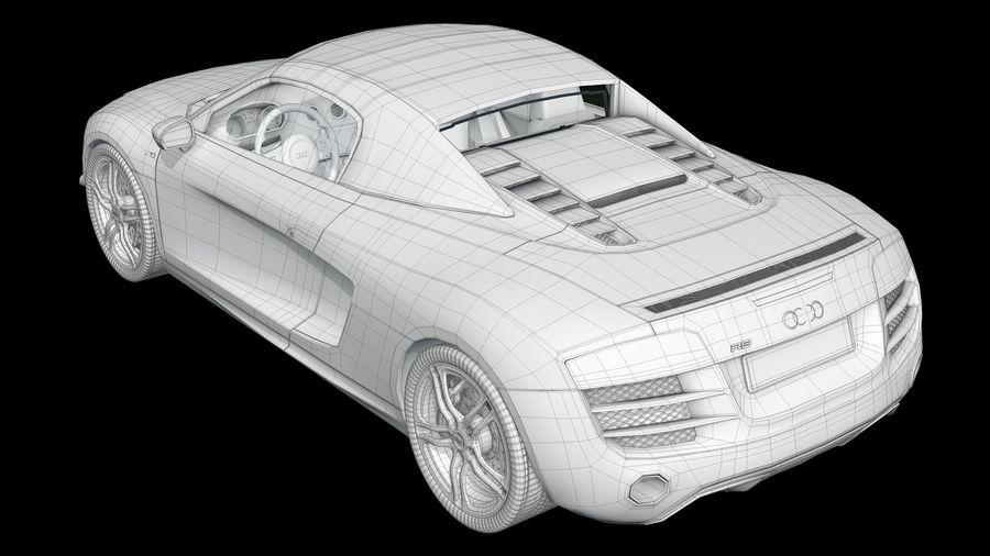 R8 Spyder V10 royalty-free 3d model - Preview no. 8