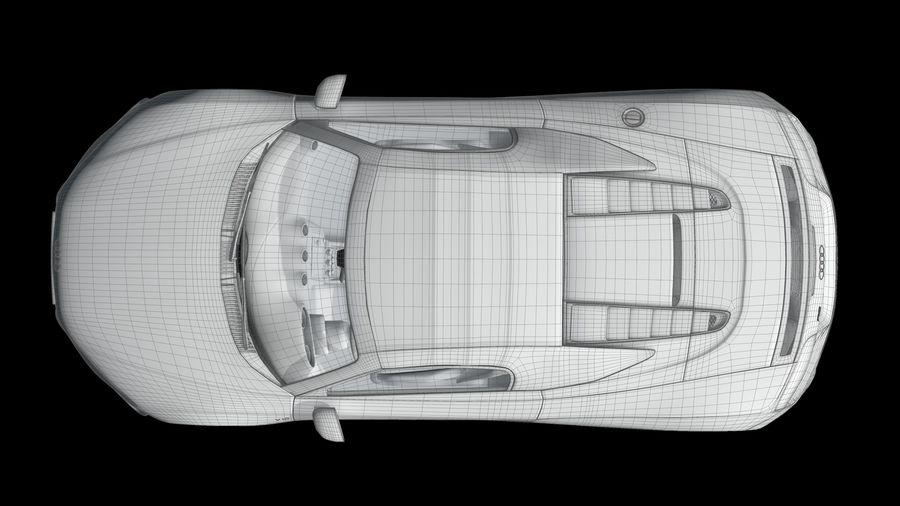 R8 Spyder V10 royalty-free 3d model - Preview no. 15