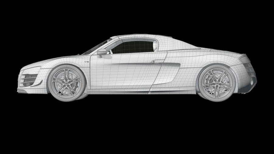 R8 Spyder V10 royalty-free 3d model - Preview no. 13