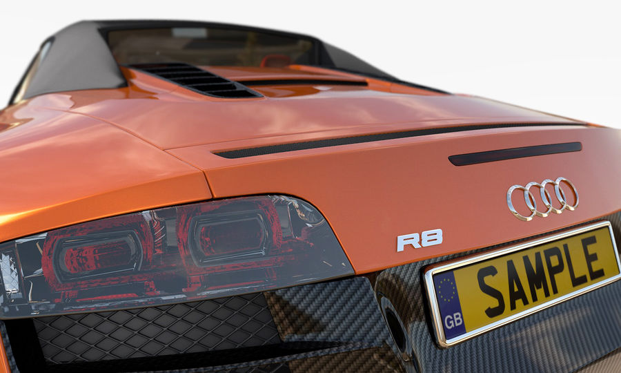 R8 Spyder V10 royalty-free 3d model - Preview no. 10