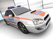 Coche de policía de Subaru modelo 3d
