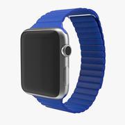 Apple Watch Blue Leather Encerramento Magnético Modelo 3D 3d model