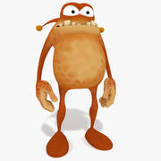 Monstruo de dibujos animados (a) modelo 3d