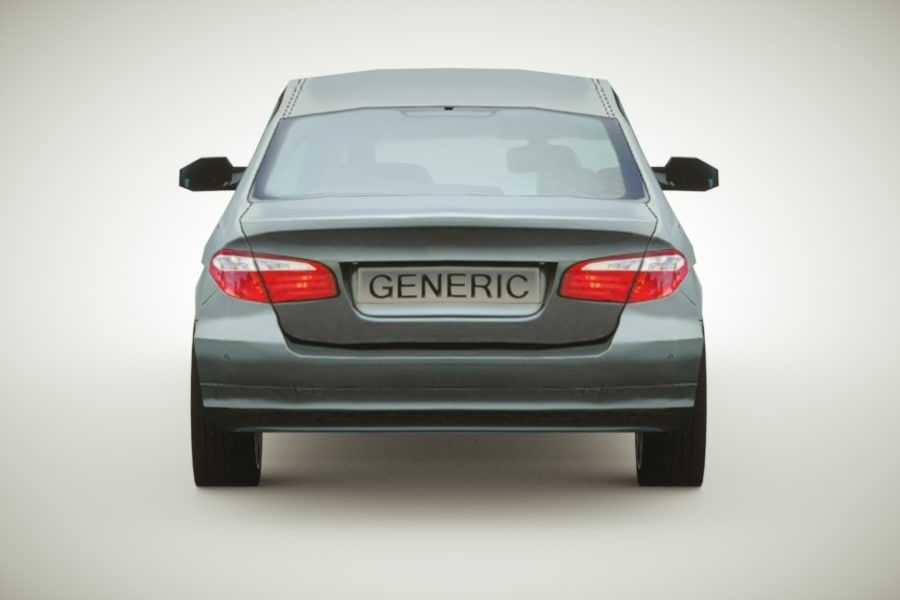 Generic Sedan v3 royalty-free 3d model - Preview no. 6