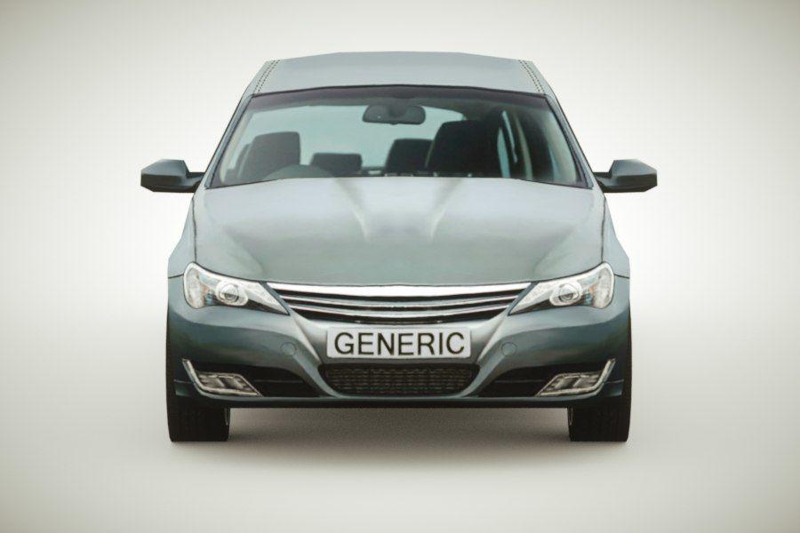 Generic Sedan v3 royalty-free 3d model - Preview no. 5
