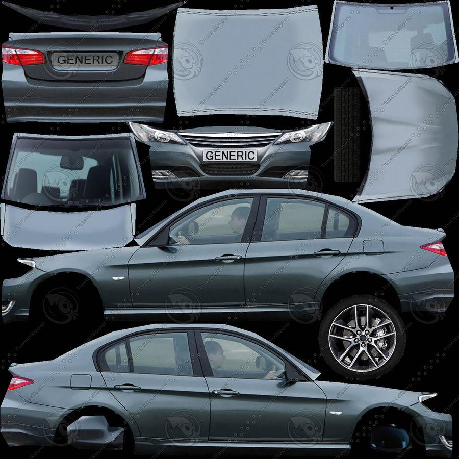 Generic Sedan v3 royalty-free 3d model - Preview no. 9