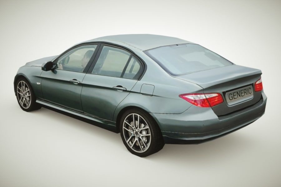 Generic Sedan v3 royalty-free 3d model - Preview no. 1