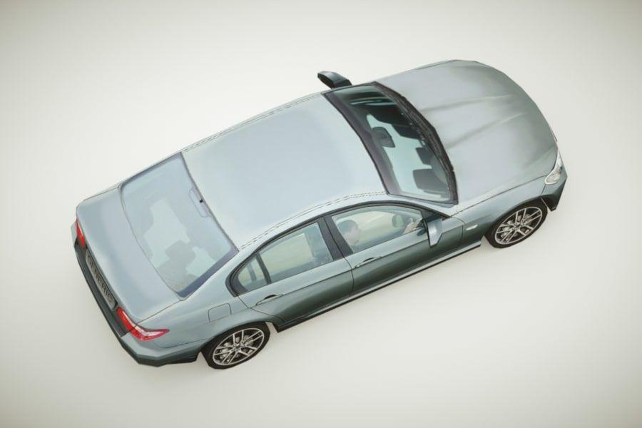 Generic Sedan v3 royalty-free 3d model - Preview no. 4