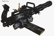Minigun M 134 3d model