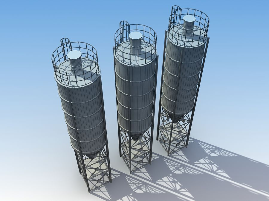 silo de cimento (torre) royalty-free 3d model - Preview no. 8
