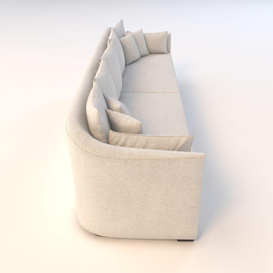 Holly Hunt Villa Sofa royalty-free 3d model - Preview no. 6
