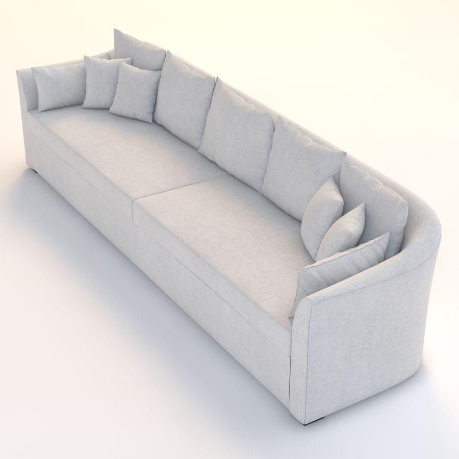 Holly Hunt Villa Sofa royalty-free 3d model - Preview no. 4