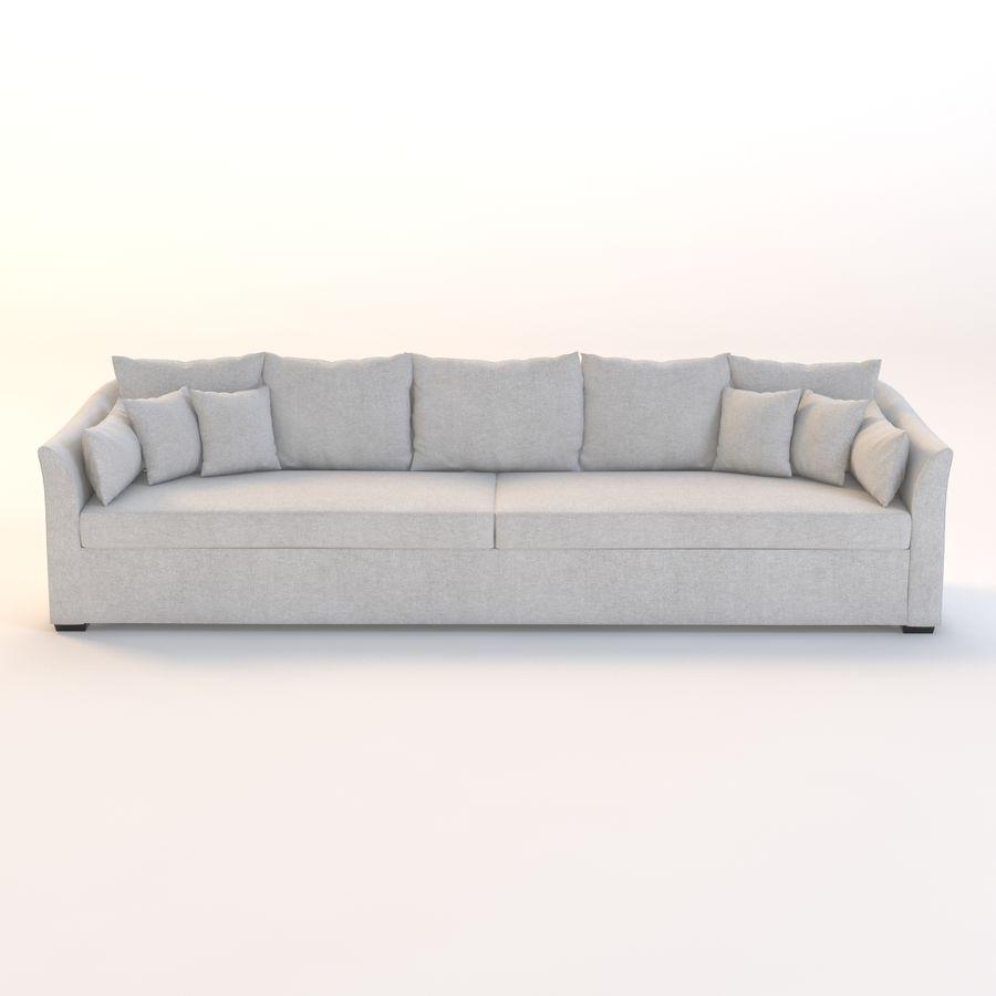 Holly Hunt Villa Sofa royalty-free 3d model - Preview no. 2