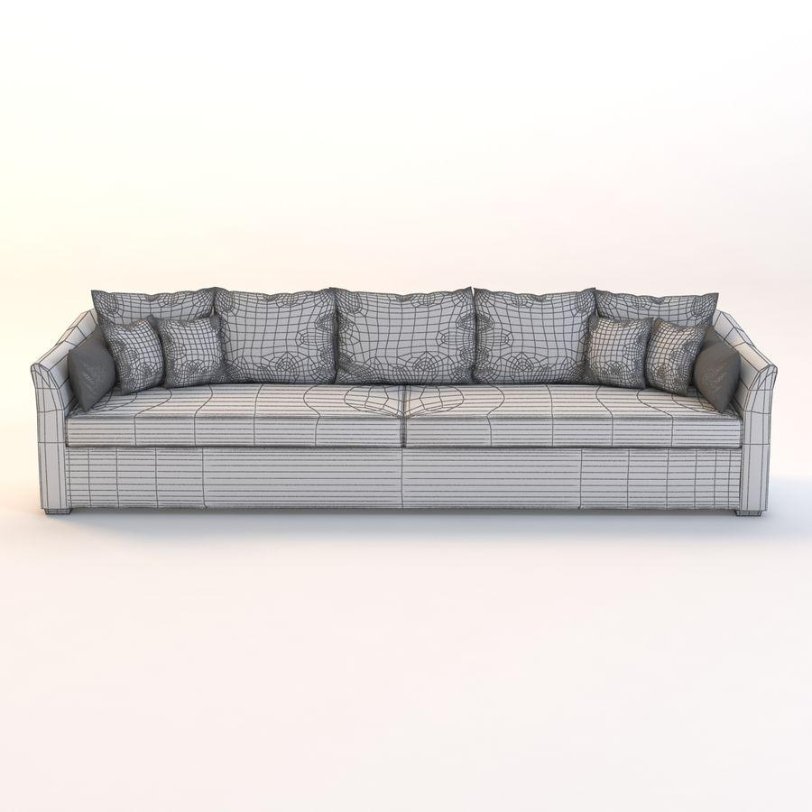 Holly Hunt Villa Sofa royalty-free 3d model - Preview no. 3