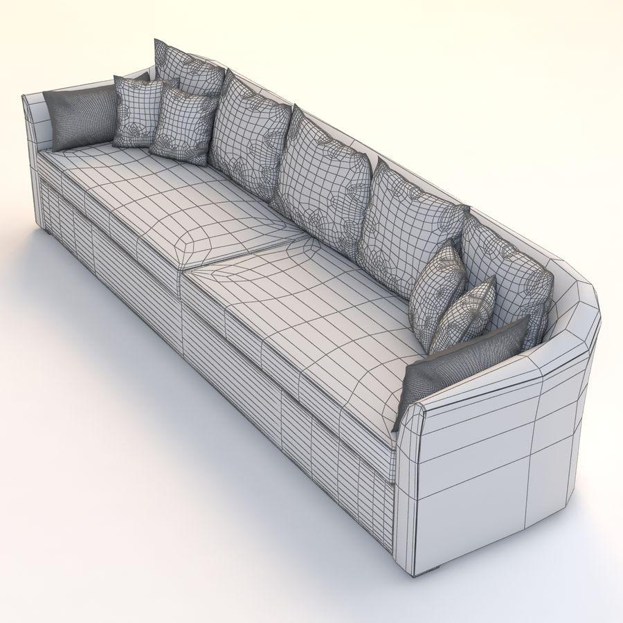 Holly Hunt Villa Sofa royalty-free 3d model - Preview no. 5