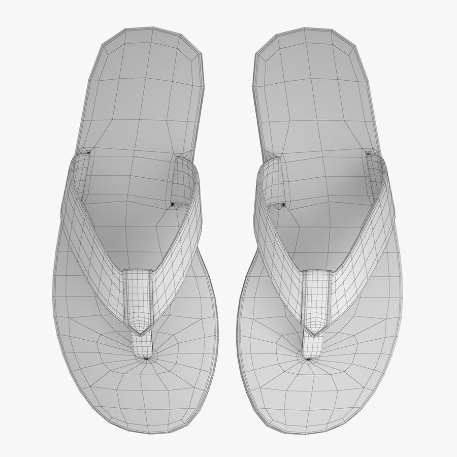 Reebok Flip flops royalty-free 3d model - Preview no. 12