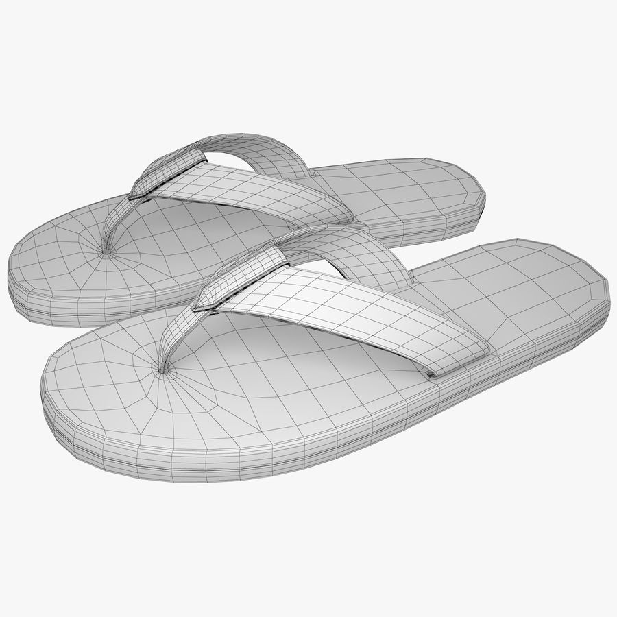 Reebok Flip flops royalty-free 3d model - Preview no. 10