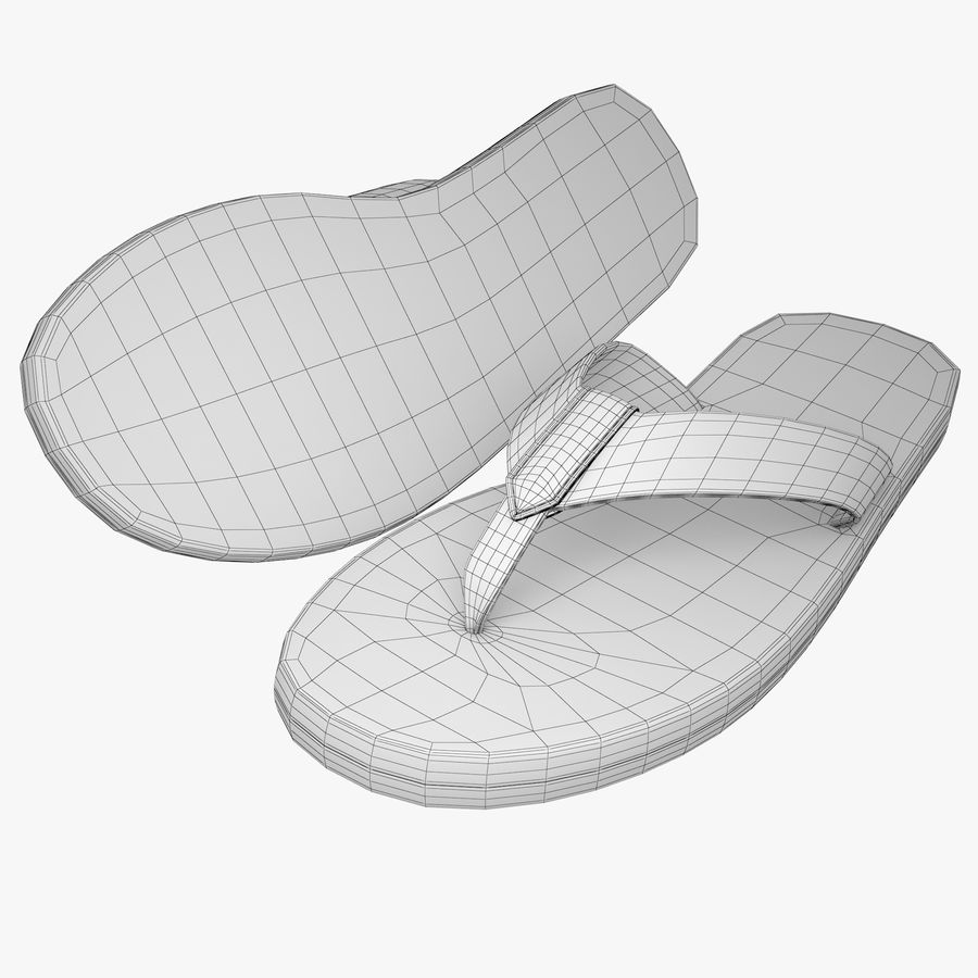 Reebok Flip flops royalty-free 3d model - Preview no. 9