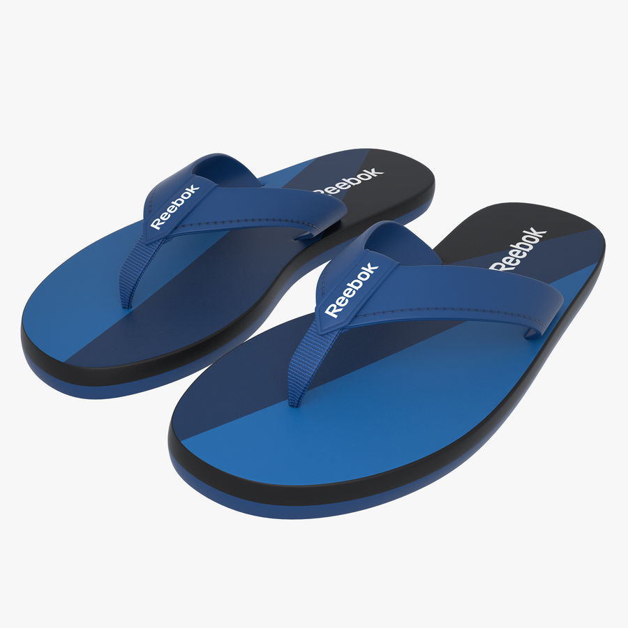 Reebok Flip flops royalty-free 3d model - Preview no. 1