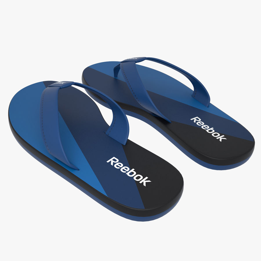 Reebok Flip flops royalty-free 3d model - Preview no. 4