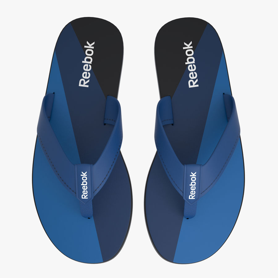 Reebok Flip flops royalty-free 3d model - Preview no. 5