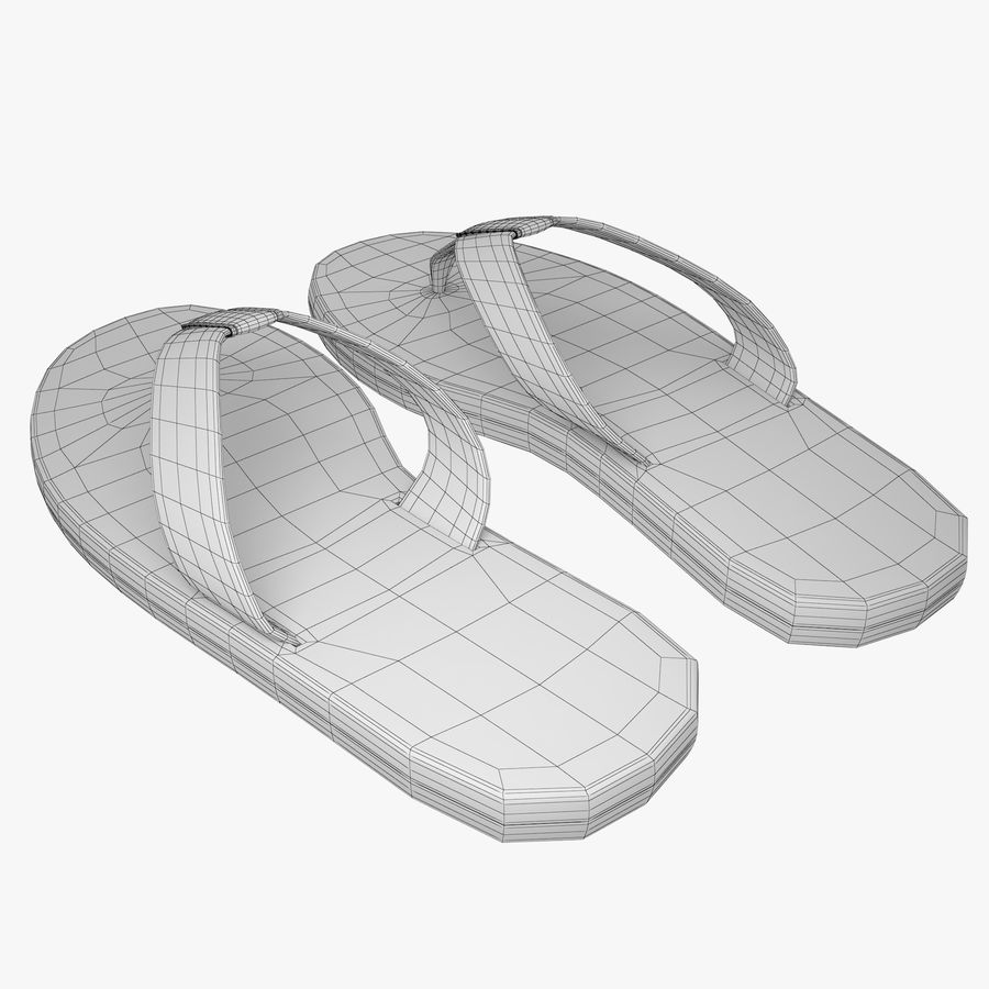 Reebok Flip flops royalty-free 3d model - Preview no. 11