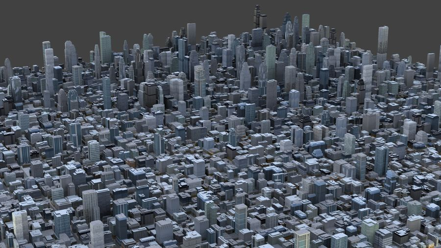Big City 36 royalty-free 3d model - Preview no. 2