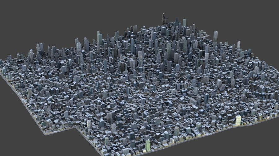 Big City 36 royalty-free 3d model - Preview no. 6