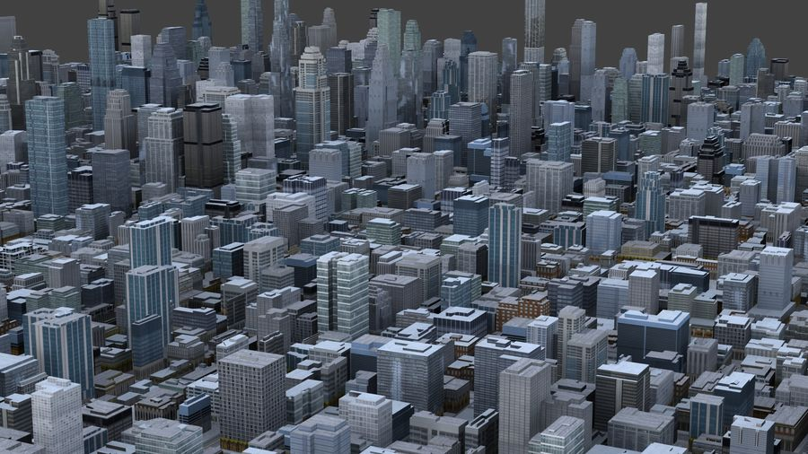 Big City 36 royalty-free 3d model - Preview no. 4