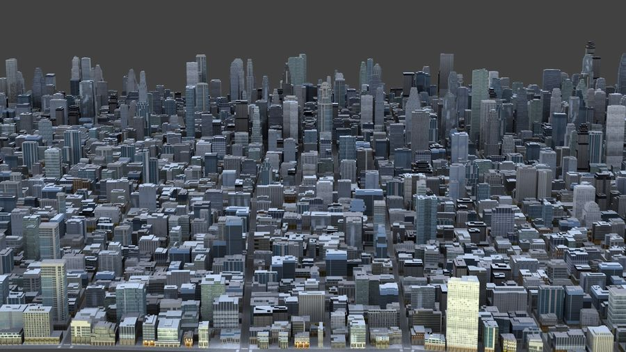 Big City 36 royalty-free 3d model - Preview no. 7