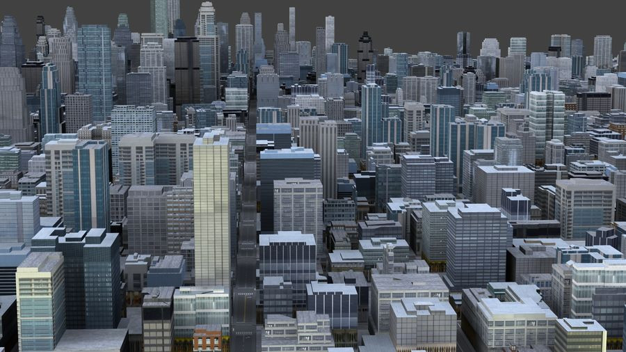 Big City 36 royalty-free 3d model - Preview no. 3