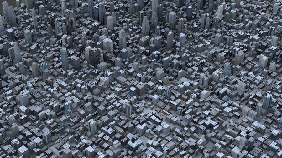 Big City 36 royalty-free 3d model - Preview no. 5
