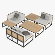 Lounge Furniture 005 3d model